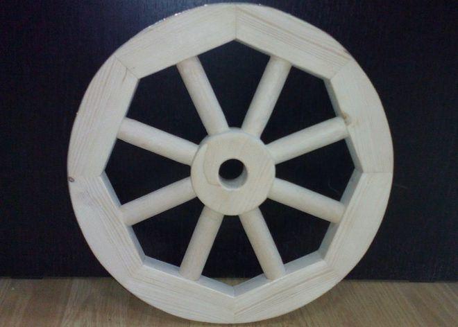 деревянное колесо для тележки
