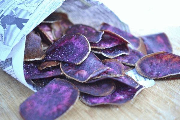 фиолетовые чипсы