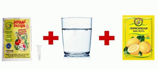 эпин вода и лимонная кислота