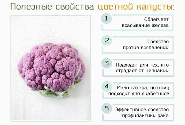 Поезные свойства цветной капусты
