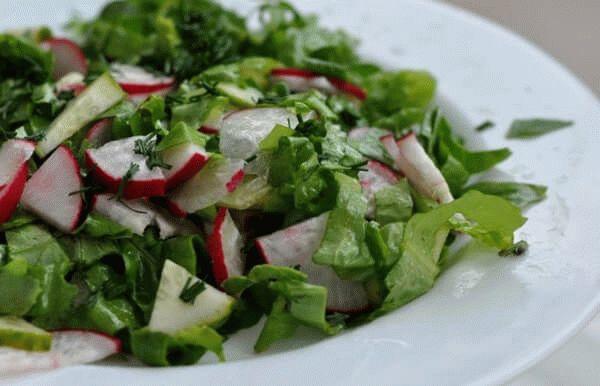 редька в салате