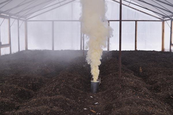 обработка газом серной шашки