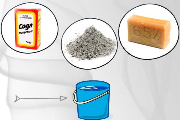 сода мыло и зола